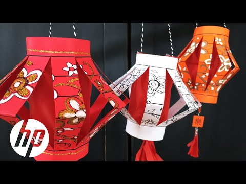 DIY Paper Chinese Lantern | HP Printers | HP