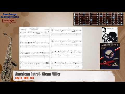 American Patrol - Glenn Miller MELODY Guitar Backing Track with chords and lyrics
