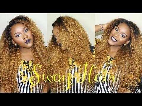 No-Part Sew in Braid Pattern with Sway Hair - KINKY TE... | Doovi