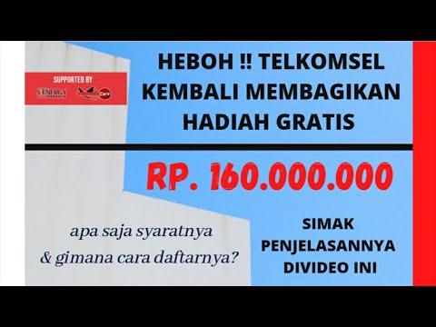 Heboh !! Telkomsel kembali membagikan uang gratis 160 juta rupiah, ini syarat dan cara daftarnya