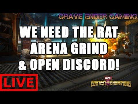 Marvel Contest of Champions | Rocket Raccoon Arena Grind & Open Discord I | MCOC