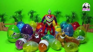 Baby Toys   Crystal Color Clay Slime Toys - Open Surprise Dinosaur Eggs with Two Bears, Superman