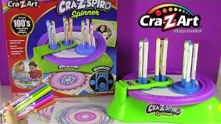 Cra-Z-Art Magic Cra-Z-Spiro Spinner! Create Amazing Designs with 10 Markers at a TIME! FUN