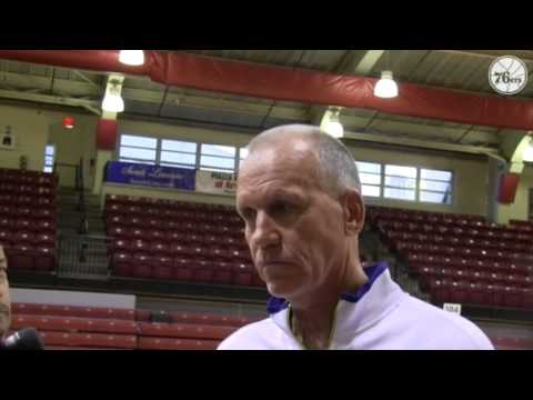 76ers T.C. Day 4-Doug Collins Interview
