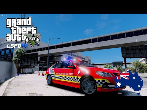 GTA 5 Aussie Police Mod - Airport AFP Livestream (As seen on 7News/Sunrise Australia)