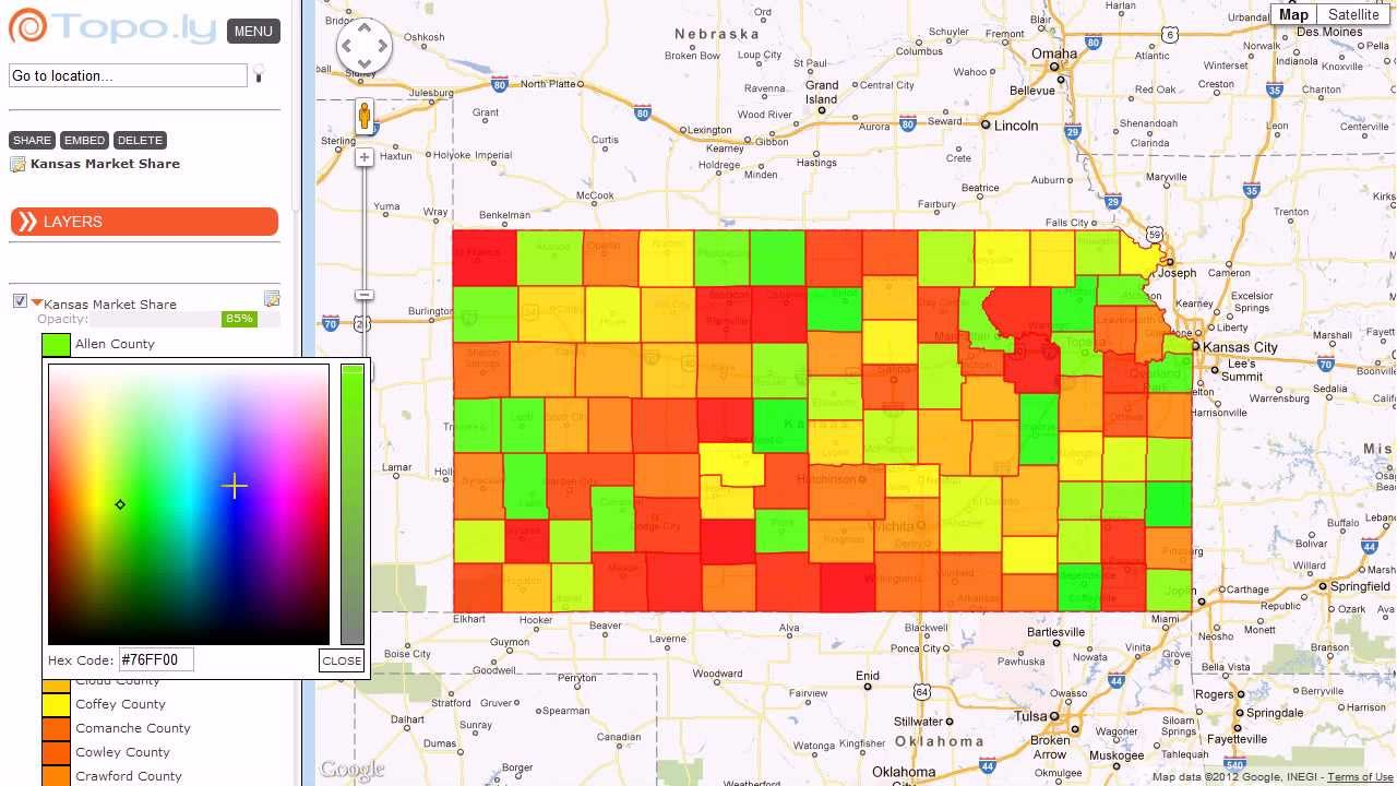 Heat Map Market Share by US Counties