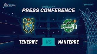 Iberostar Tenerife v Nanterre 92 - Press Conference - Basketball Champions League 2018-19