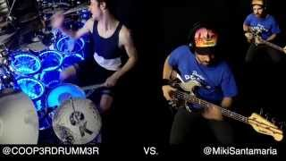 Drums VS. Bass - CRAZY Bass Solos & Drum Solos! ft. Miki Santamaria