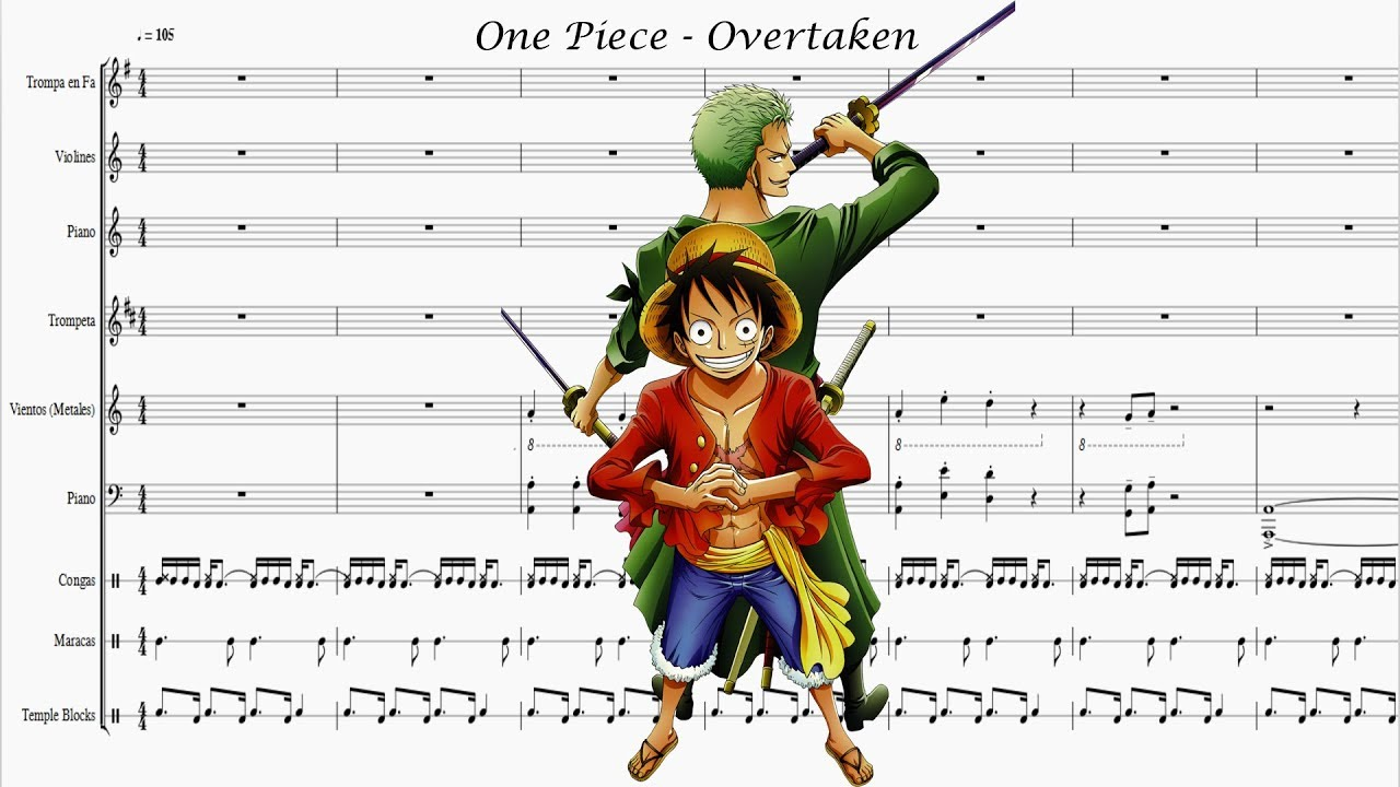 Partitura One Piece Overtaken Youtube