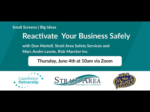 Reactivating Your Business Safely Webinar