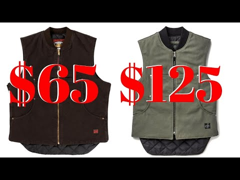 Filson Vs. Tough Duck Work Vests