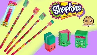 Shopkins 4 Pack Pencils Review With Season 3 Special Edition Stationary Toys - Video Cookieswirlc