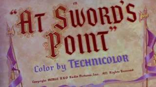At Sword's Point (1952) title sequence