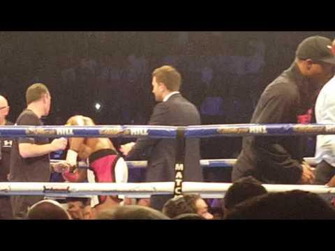 Anthony Joshua stops Eric Molina