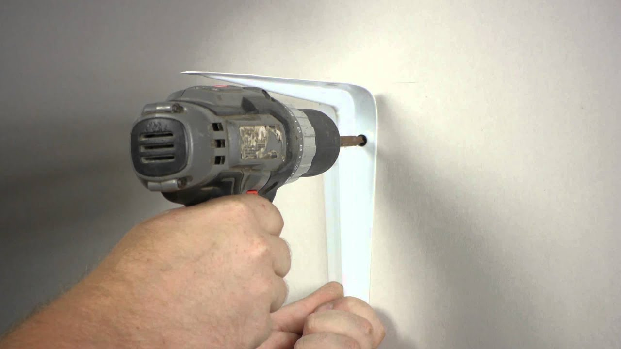 How to Install a Heavy Shelf With Brackets to Drywall Wall Repair