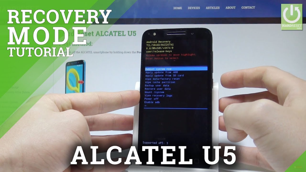 How to Open Recovery Mode in ALCATEL U5 |HardReset info