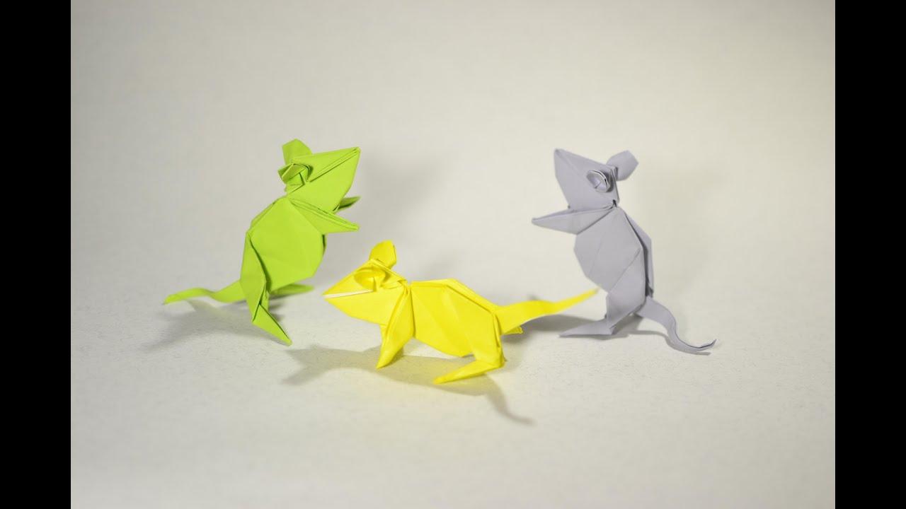 Origami Mouse By Kasahara Kunihiko Yakomoga Easy Origami Tutorial