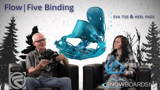 2015 Flow Five Mens Binding Overview by SnowboardsDOTcom