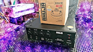 AHUJA DPA 370 AND AU 40 DRIVER UNIT UNBOXING & FULL REVIEW