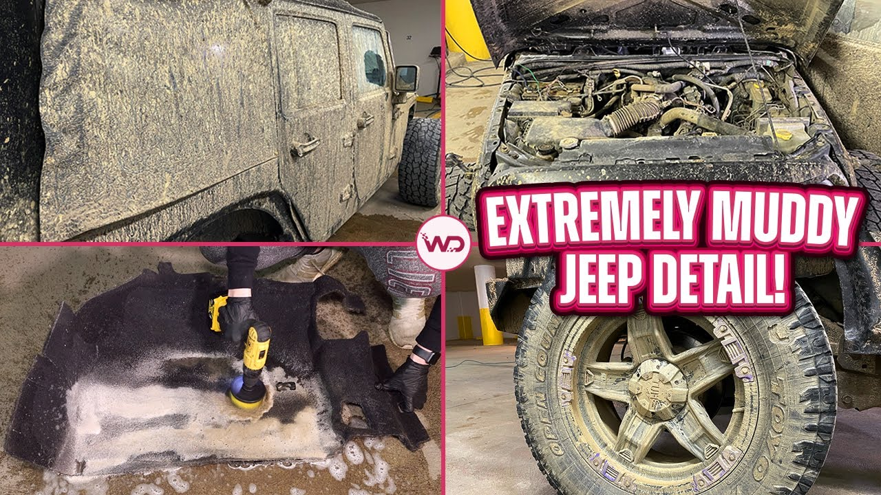 DISASTER Detailing The Muddiest Jeep Wrangler EVER! | Insane Satisfying Detail Transformation!