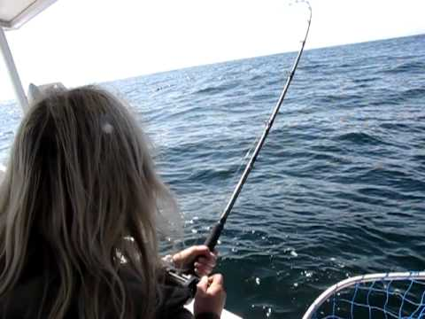 Offshore Chinook salmon fishing off Vancouver Island, B.C.