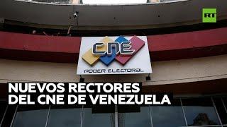 El Parlamento de Venezuela designa a los nuevos rectores del Consejo Nacional Electoral