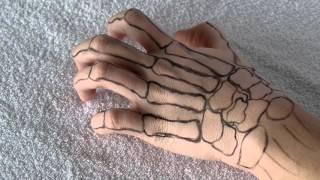 Skeleton hand halloween makeup tutorial