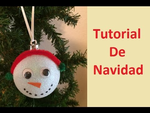 Tutorial De Navidad 11 Esferas Mono De Nieve Youtube