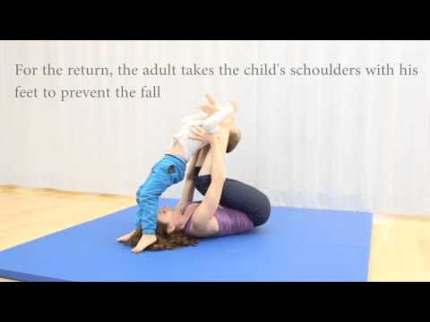 family acroyoga with small kids tutorial  youtube