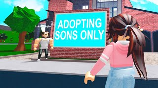 This Dad Wanted SONS ONLY.. So I Went UNDERCOVER!! (Roblox Bloxburg)