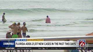 Florida adds over 20-thousand new cases in two days