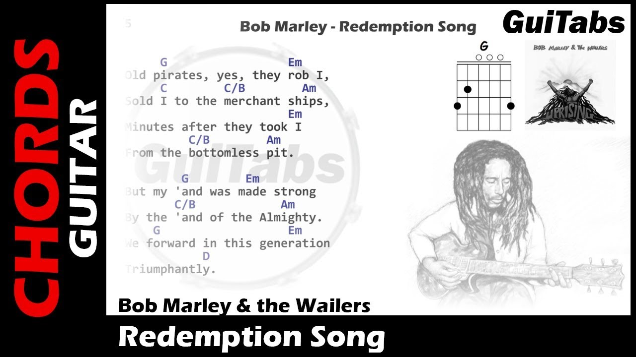 Bob Marley Redemption Song Lyrics And Guitar Chords Youtube