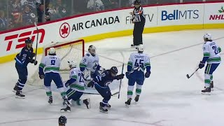 Jets with some nifty passing to beat Canucks
