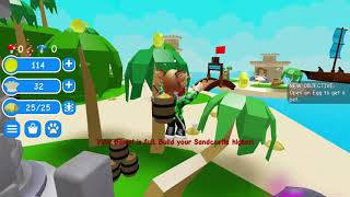 Roblox | Playing sand castle simulator in ROBLOX