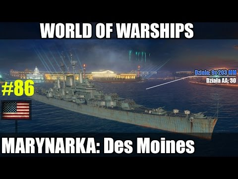 Des Moines -World of Warships - Krążownik X TIER gameplay pl