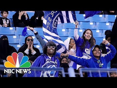 Saudi Arabia Allows Women To Watch Soccer Inside Stadium For First Time | NBC News