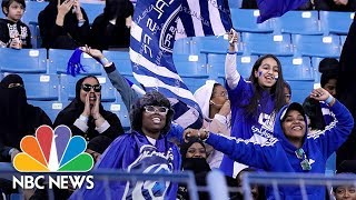 Saudi Arabia Allows Women To Watch Soccer Inside Stadium For First Time   NBC News