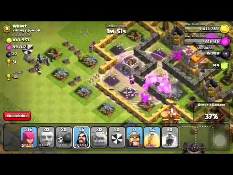 Clash of clans - Just unlocked golems first raid with them!