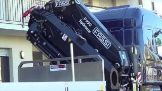 Scania 4 assi - Cassone fisso con gru Fassi