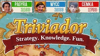 Wycc, Радуга и Семка играют в Тривиадор