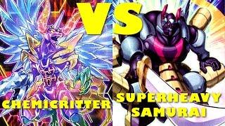 Real Life Yugioh - CHEMICRITTER vs SUPERHEAVY SAMURAI   November 2016 Scrub League