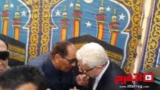 حديث سري للمشير طنطاوي ومرتضي منصور في جنازه الثعلب (فيديو)