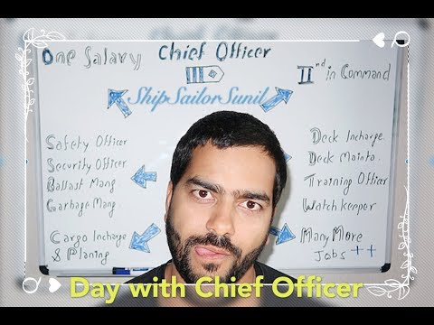 Day with Chief Officer/ 2nd in command/ ShipSailorSunil