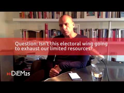 DiEM25 and a political wing