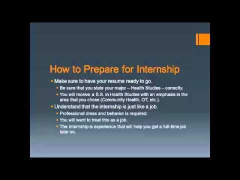 Health Studies Internship