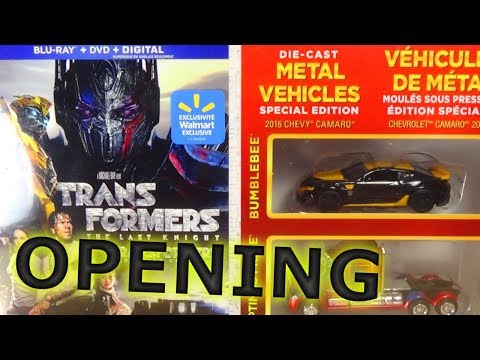 OPENING: Transformers The Last Knight - Walmart Exclusive DVD, Blu-Ray, Digital BOX SET