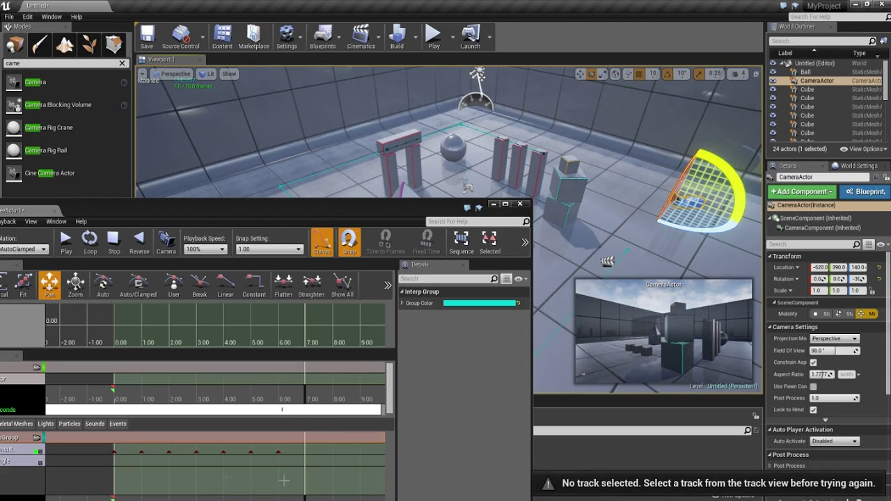 Unreal Engine 4 - Recording with Matinee Legacy