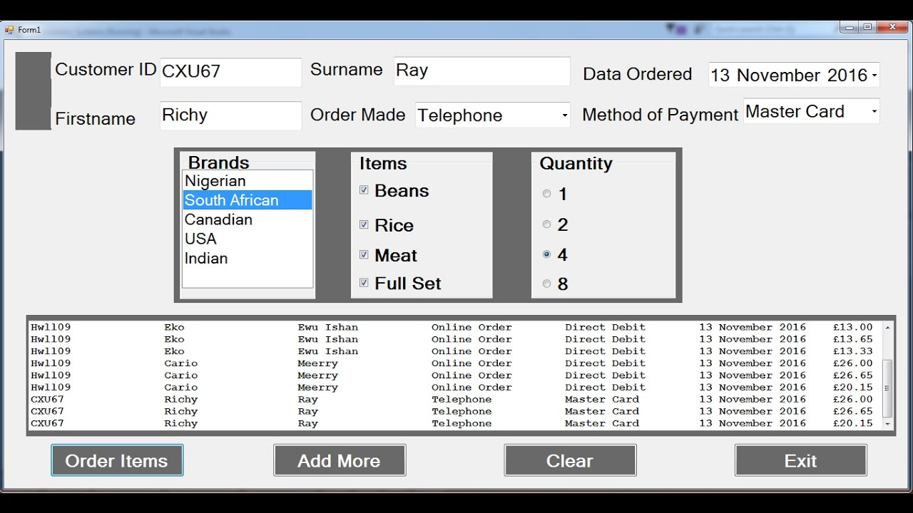 How To Create Inventory System In C Youtube