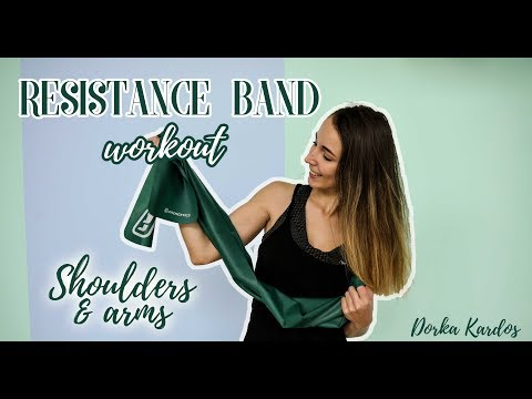 Resistance Band Shoulder and Arm Workout | No Gym No Problem!