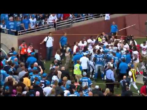 Lions vs 49ers 2011 Coaches Fight (And jim says what  the FU**)